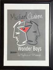 Michael Chabon's Wonder Boy's Poster Signed by Designer Peter Levine *RARE*
