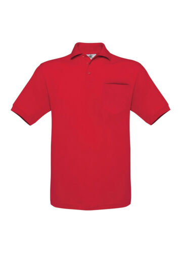 B/&C Collection BA350 Mens Safran Pocket Polo Tshirt Short Sleeves Plain T-shirts