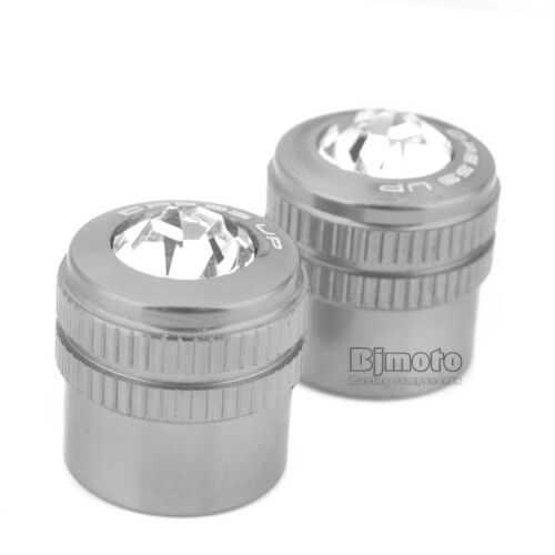 2x Universal Motorcycle Wheel Tyre Tire Valve Stems Air Dust Cover Screw Caps