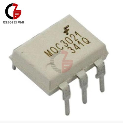 10Pcs Fairchild MOC3021 Random-Phase Optoisolators Triac Driver Output DIP-6