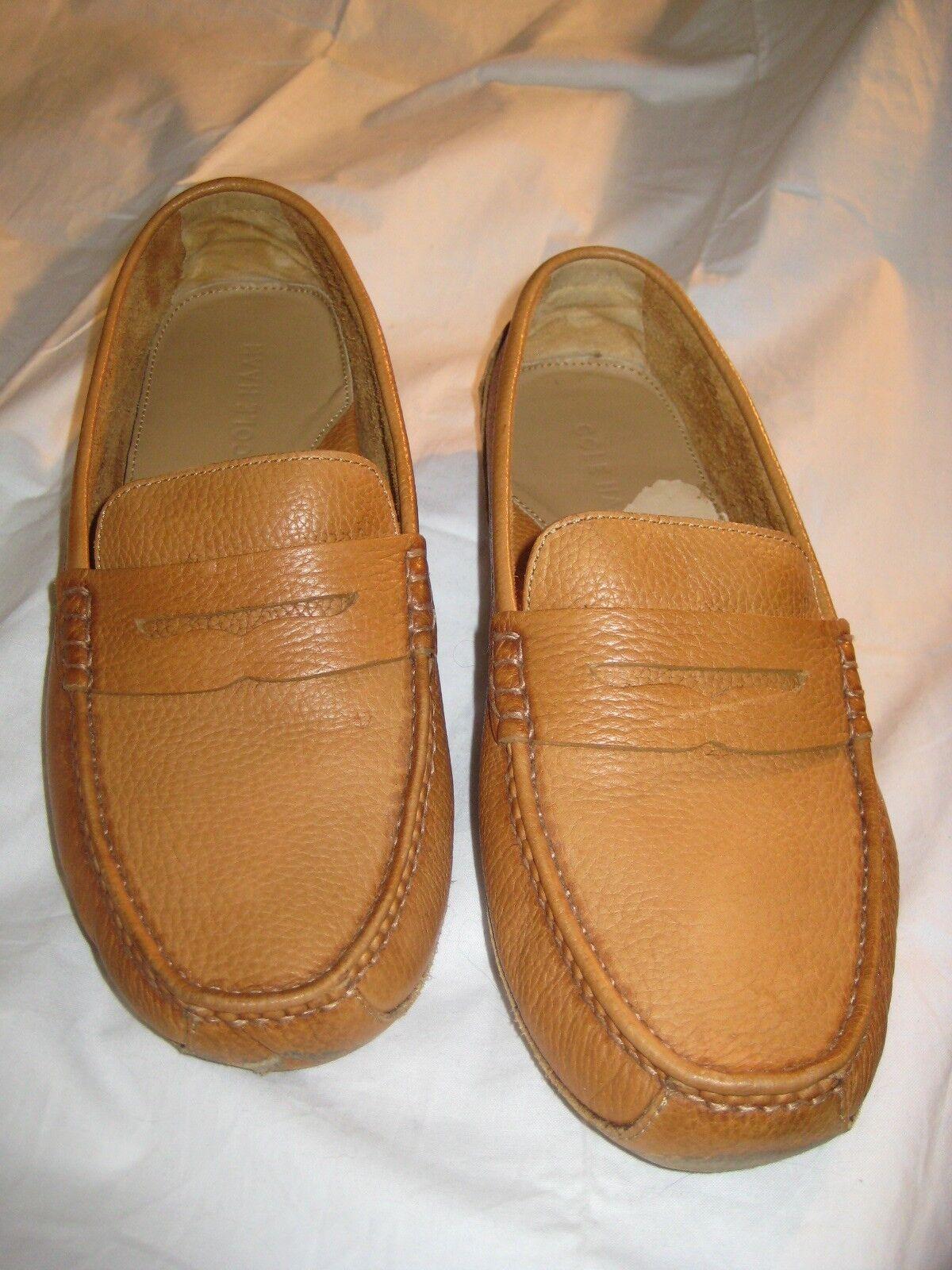 Pour des hommes Cole Haan Comfort Penny Loafers Pebbled cuir Taille 9M, Couleur boisbury