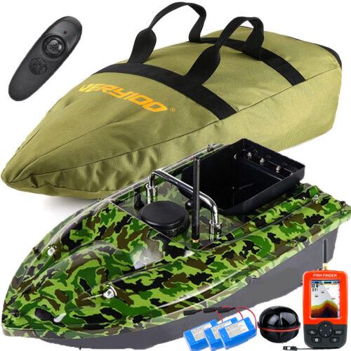 GPS LCD Fishfinder,Tasche,Akku VERY100 500M RC Kabellos Fischerköder Futterboot