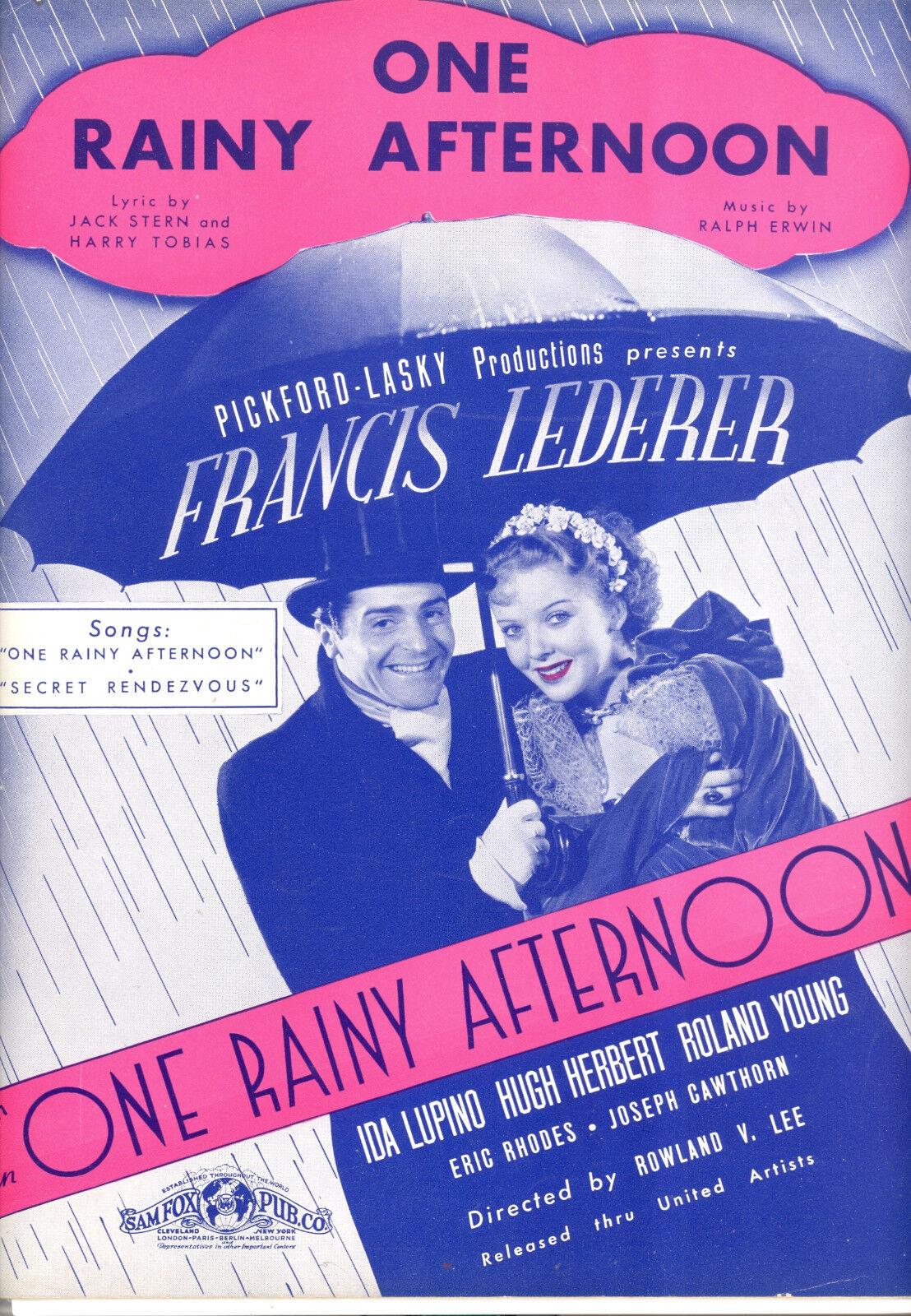 Eine Rainy Afternoon Notenblatt     Ida Lupino Francis Lederer