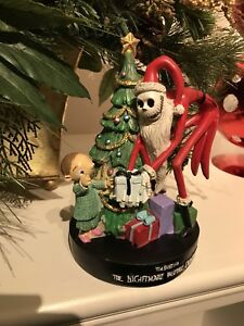 Nightmare Before Christmas Santa Jack Holiday Statue Figure Tree Boy