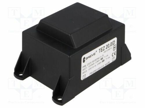 Transformateur 1 Pcs encapsulée 20VA 230VAC 12 V 12 V 833.3 mA 833.3 mA
