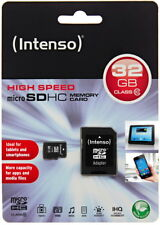 Intenso 32GB Micro SDHC Speicherkarte Class 10 Karte inkl SD SDHC Card Adapter