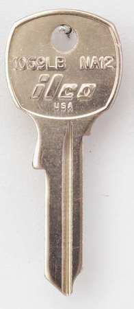 KABA ILCO 1069LB-NA12 Key Blank,Brass,Type NA12,5 Pin,PK10
