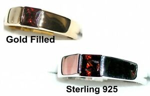 Men/'s 6x6mm Emerald Band Ring You pick Setting /& Size  #9A9