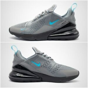 Details about Nike Air Max 270 Mens UK Size 8 13 Trainers Cool Grey Blue Fury Black Shoes