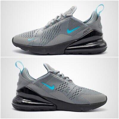 Nike Air Max 270 Homme Taille UK 10.5 Baskets Cool Gris Bleu Noir Fury CD1506 001 | eBay