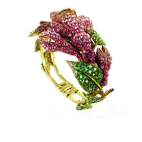 Flower Hinged Bracelet MORE COLOURS AVAILABLE