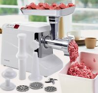 Electric Meat Grinder Stainless Steel Cutting Blade 3 Speeds Kitchen Appliance