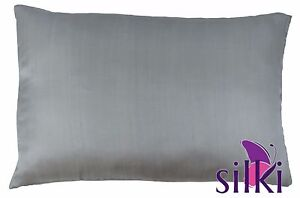Gray 100 Mulberry 25 Momme Pure Silk Pillowcase Cover