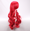 thumbnail 2 - Glamour Women Girls Long Wavy Curly Red Heat Resistant Hair Wig +a wig Cap