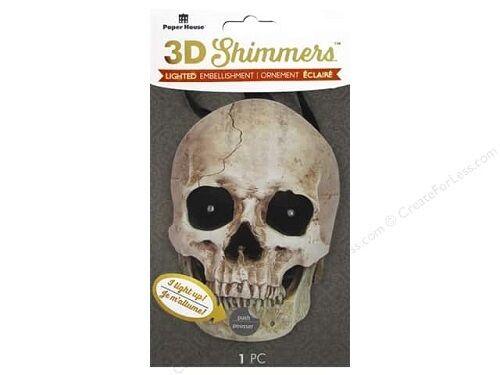 Skull Shimmer #654 Paper House Halloween 3D Shimmers