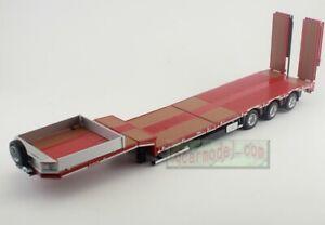 1/32 SCALE MARGE MODELS NOOTEBOOM LOW LOADER Trailer RED METAL GRIDS Truck