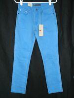 Levi's Mid-rise Skinny Blue Colored Jeans 6p Petite