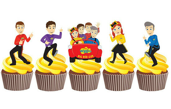 12 THE WIGGLES STAND UP 5.5cm EDIBLE WIGGLES CUPCAKE CAKE TOPPERS CAKE IMAGES