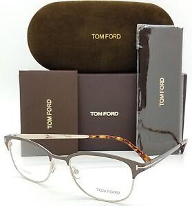 NEW Tom Ford RX Glasses Frame Dark Brown Metal FT5381//V 050 52mm GENUINE TF5381