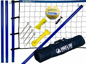 Volleyball Net Set Portable Court System Equipment Outdoor ...