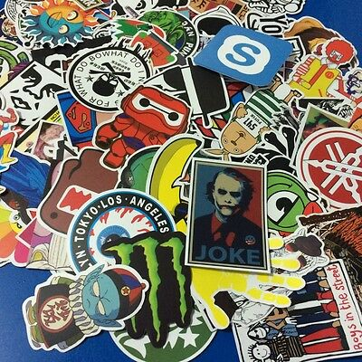 300pcs Cartoon Car Sticker Decal Laptop Skateboard Stickers Bomb Doodle Graffiti