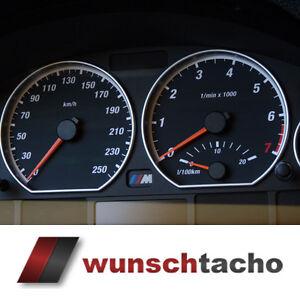 """Tachoscheibe für Tacho BMW E46 Benziner *Ring""""  250 kmh Top"""