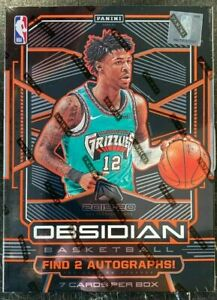 2019-20-PANINI-OBSIDIAN-BASKETBALL-FACTORY-SEALED-HOBBY-BOX-MORANT-ZION-RC