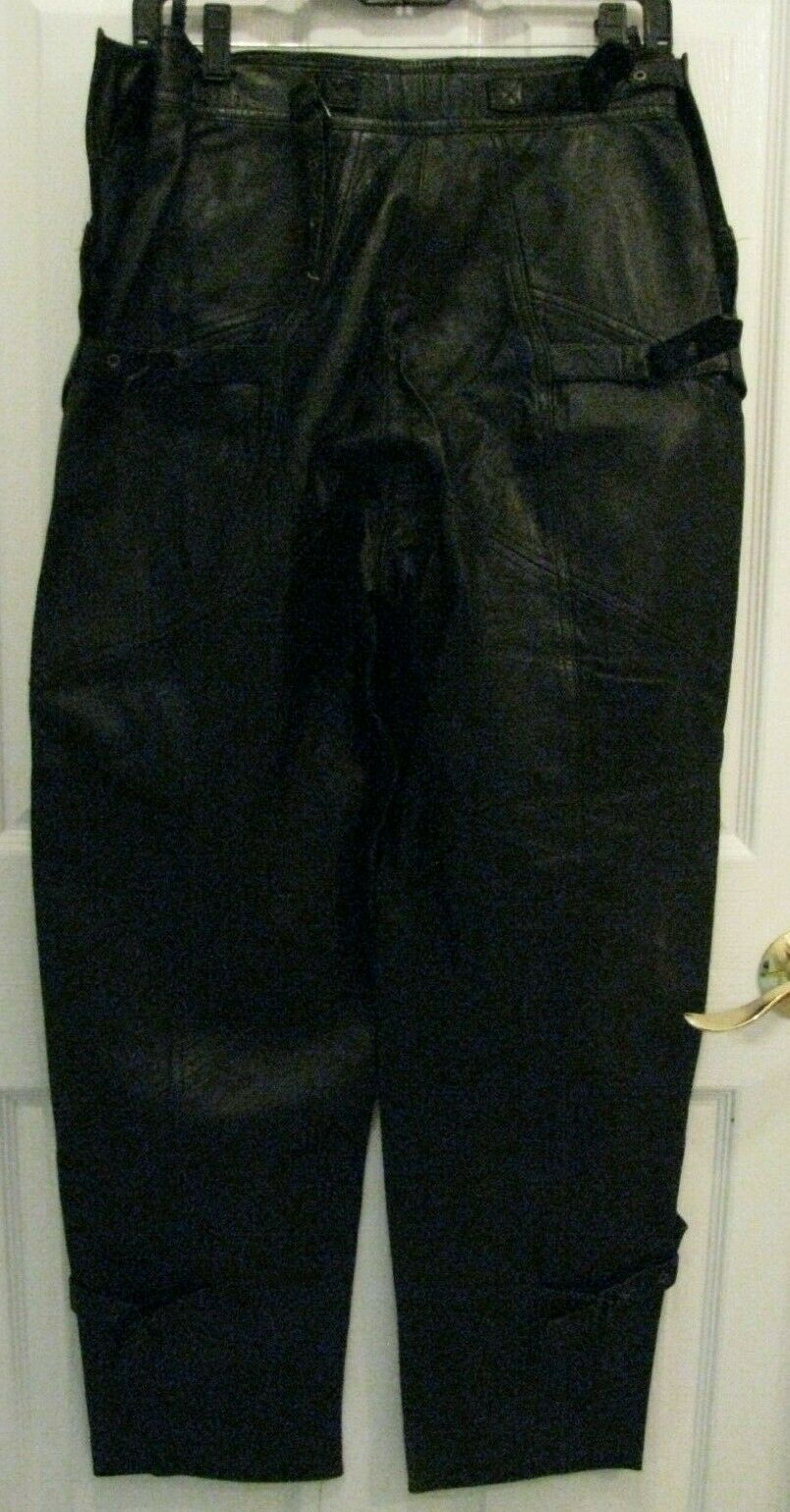 Les Terribles Leather Chaps Pants Made In France Size 38