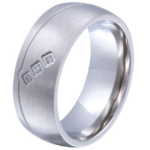 135d grabado gratis Señora amistad anillo de acero inoxidable circonita incl