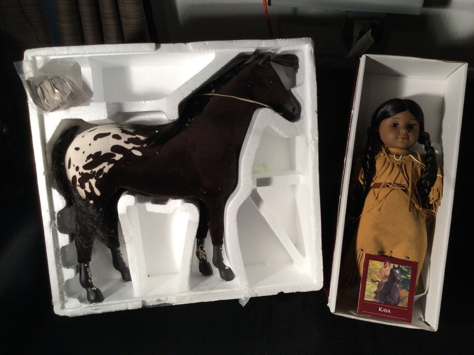 American Girl Kaya doll W  Horse. Never Played With. Excellent Condition. In Box
