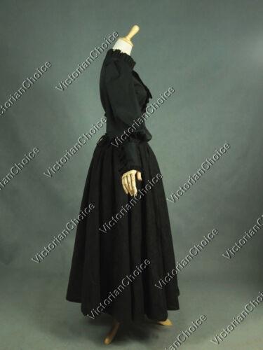 Victorian Gothic Dark Witch Dress Set Theatre Steampunk Halloween Costume D187