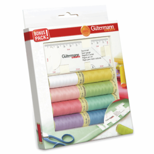 Gutermann 8 x 100m Sew All with Seam Gauge Sewing Thread Box Set Pack