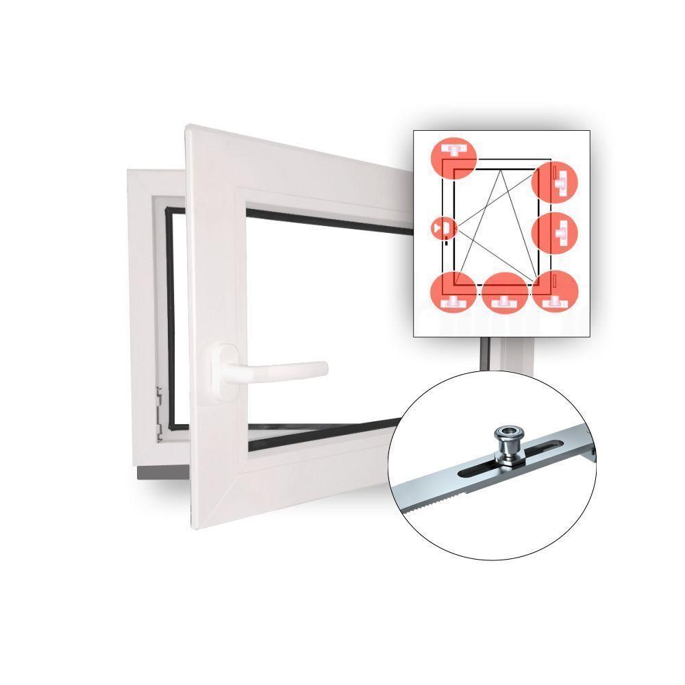 Fenster Kunststofffenster Kellerfenster Einbruchhemmend Einbruchschutz WK2 NEU