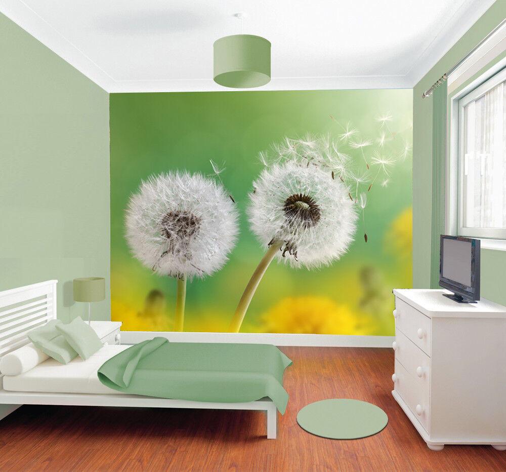 Dandelion Flower Garden Wallpaper Bedroom Picture Mural Photo Home Decoration