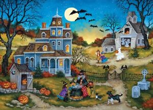 Jigsaw Puzzle Seasonal Halloween Three Little Witches Trick or Treat 1000 pc NEW