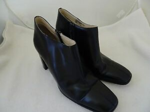 SAM-amp-LIBBY-LADIES-SIZE-9M-BLACK-ANKLE-BOOTS-3-1-4-034-HEELS-SIDE-ZIPPER-LKN
