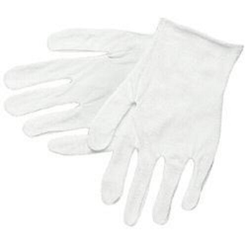15 PAIR MENS COTTON LISLE COIN INSPECTION GLOVES JEWELRY GLOVE LINER GOLD FILM