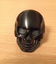 Skull Ring Stainless Steel Size 7-14 Black, Silver, Gold Biker Goth Punk NEW