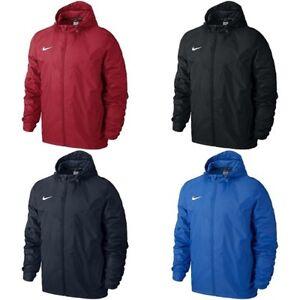 7c85b8987d90 Image is loading Nike-Boys-Kids-Sideline-Rain-Jacket-Hooded-Waterproof-