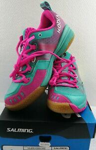 brand new 886d7 dc77c Details zu Salming Kobra Damen Women Handballschuh Gr.36-42 Hallen  Sportschuhe 1237081-6351
