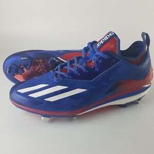 Adidas Boost Icon 2.0 Metal Baseball Cleats Men's Size 13 Kris Bryant Red Blue
