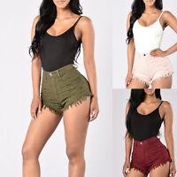 Women's High Waist Short Jeans Denim Pants Beach Summer Shorts Fashion HOT PANTS