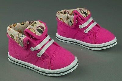 Zapatos De Lona Niñas Alto Tobillo Zapatillas Bebé Niño Talla 3.5 - 11UK -!! nuevo!!!