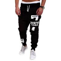 Stylish Men's Casual Sports Baggy Harem Trouser Bottoms Dance Jogger Sweat Pants