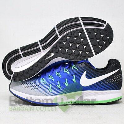 Nike 831352 008 Men's Air Zoom Pegasus 33 Running Shoes Wolf GreyWht Blue | eBay