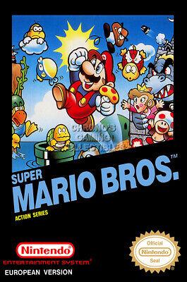Rgc Huge Poster Super Mario Bro Pal Box Art Nintendo Nes Oth558 Ebay