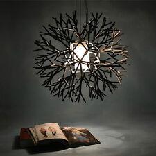 Edison Acrylic Metal Ceiling Light Vintage Chandelier Pendant Lamp Flush Mount