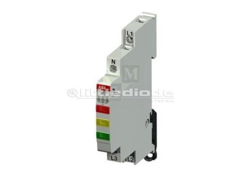 Indicador de Voltaje Módulo E219-3CDE de montaje DIN 9 mm 3x230-415VAC ABB