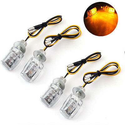 4x 12V 6 LED Mini Universal Motorcycle Turn Signal Blinker Indicator Light Lamp