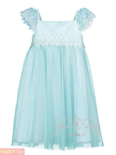 Girls Deluxe Elsa Smock Dress Childs Disney Frozen Travis Design Costume Kids